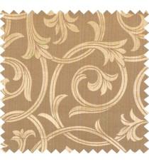Yellow brown beige colour elegant traditional design polycotton main curtain designs