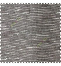 Grey cream color horizontal thin lines with transparent polyester base fabric sheer curtain