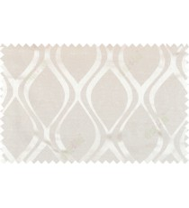 Beige white color seamless traditional pattern polycotton main curtain designs