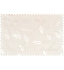Beige white color elegant floral pattern with texture fab polycotton main curtain designs