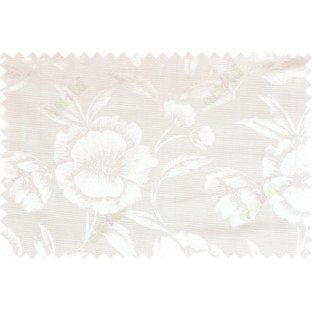 Beige white color beautiful natural rose flower pattern polycotton main curtain designs
