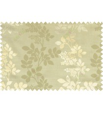 Green brown grey color natural floral with thick texture fab polycotton main curtain designs