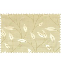 Green brown grey color elegant floral pattern with texture fab polycotton main curtain designs