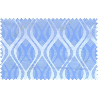 Blue grey color seamless traditional pattern polycotton main curtain designs