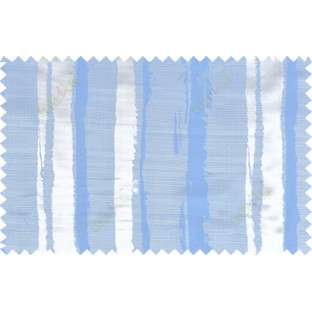 Blue grey color vertical stripes with thick texture fab polycotton main curtain designs