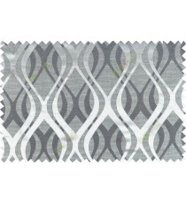 Black grey color seamless traditional pattern polycotton main curtain designs