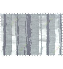 Black grey color vertical stripes with thick texture fab polycotton main curtain designs