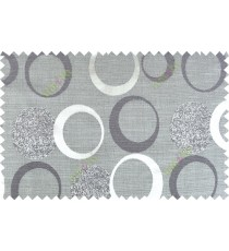 Black grey color geometric circle pattern with texture fab  polycotton main curtain designs