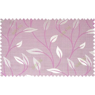 Pink brown grey color elegant floral pattern with texture fab polycotton main curtains design
