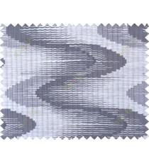 Black beige grey colour wavy lines polycotton main curtain designs
