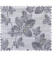 Black beige brown grey beautiful floral design polycotton main curtain designs