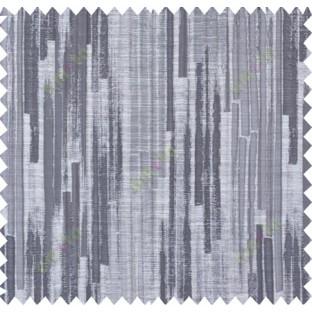 Black beige grey color vertical pencil stripes polycotton main curtain designs