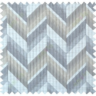 Beige grey copper colour herringbone pattern polycotton main curtain designs