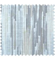 Grey beige color vertical pencil stripes polycotton main curtain designs