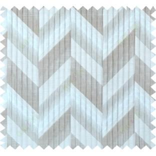 Beige brown silver colour herringbone pattern polycotton main curtain designs