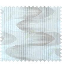 Beige silver copper colour wavy lines polycotton main curtain designs