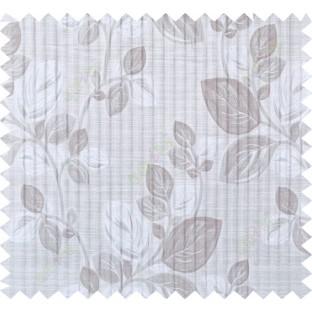 Beige silver brown beautiful floral design polycotton main curtain designs