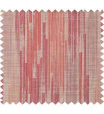 Maroon brown orange color vertical pencil stripes polycotton main curtain designs