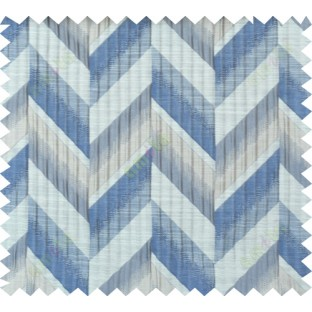 Blue beige brown colour herringbone pattern polycotton main curtain designs