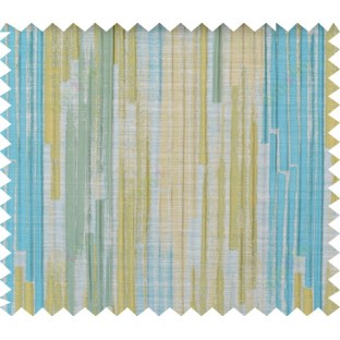 Aqua blue green beige color vertical pencil stripes polycotton main curtain designs