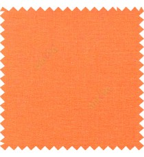 Orange color solid plain finished surface designless complete pattern free soft touch pure cotton curtain fabric