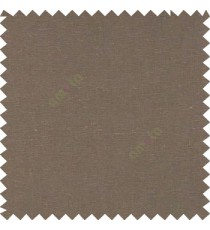 Dark brown color solid plain finished surface designless complete pattern free soft touch pure cotton curtain fabric