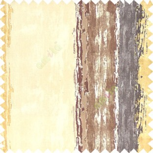 Gold brown grey beige color vertical colorful stripes textured straight colour painted watercolor print on pure cotton background curtain fabric