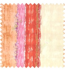 Red beige brown purple orange color vertical colorful stripes textured straight colour painted watercolor print on pure cotton background curtain fabric