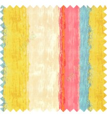 Pink blue green brown beige color vertical colorful stripes textured straight colour painted watercolor print on pure cotton background curtain fabric