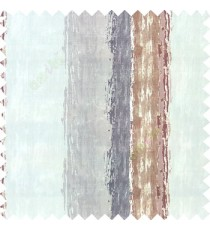 Grey brown grey color vertical colorful stripes textured straight colour painted watercolor print on pure cotton background curtain fabric