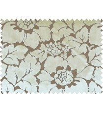 Beige brown color beautiful floral design poly sofa fab - 113007