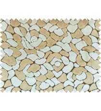 Beige brown color floral design poly sofa fabric - 113009