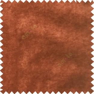 Brown plain design velvet finish nylon curtain fabric