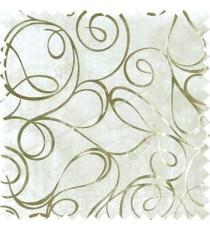 Ivory gold abstract design velvet finish nylon curtain fabric