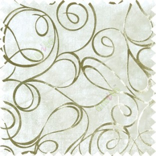 Ivory gold abstract design velvet finish nylon curtain fabric