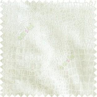 Ivory texture design velvet finish nylon curtain fabric