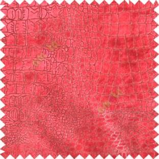Red rich gold texture design velvet finish nylon curtain fabric