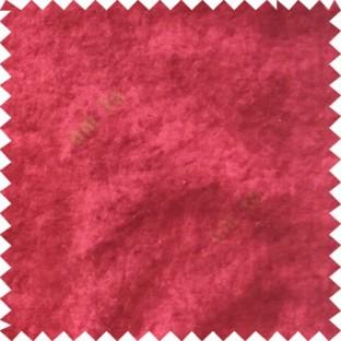 Red plain design velvet finish nylon curtain fabric