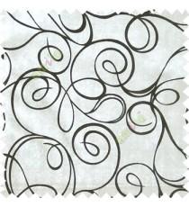 Ivory black abstract design velvet finish nylon curtain fabric