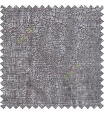 Grey silver texture design velvet finish nylon curtain fabric