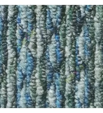 Blue green grey color texture finished surface soft feel heavy duty material for residential with vertical lines floor carpet