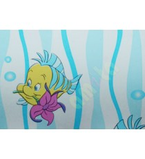 Aqua blue frosted little mermaid flounder decorative glass film