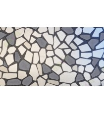 Black and white broken glass wall tiles decorative glass film