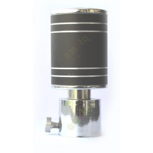 Pure black with four stripes cylindrical shape ss finial