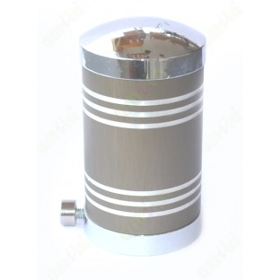 Light brown cylindrical shape with white stripes ss finial