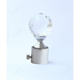 Transparent crystal ball shape ss finial