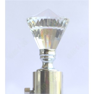 Transparent Crystal Diamond Shape Ss Finial