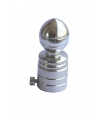 Cylindrical heavy metal with oval shape with ss finial