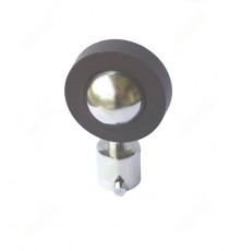 Pure brown wooden finish with shiny metal round shape ss finial