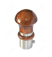Pure shiny wooden finish ss finial